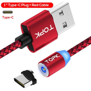 Official TopK™ LED Magnetic Cable Type C (for Android devices)