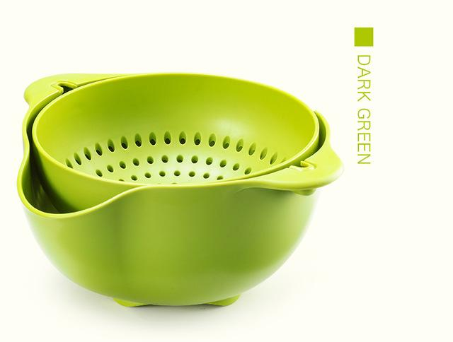 One Piece 360 Angle Drain Basket of Vegetables or Fruits