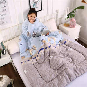 Full Body Blanket Quilt with Sleeves