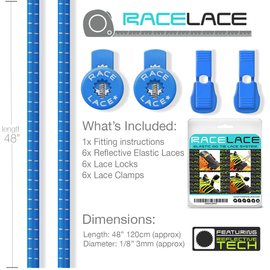 Sky Blue Race Laces - Triple Pack