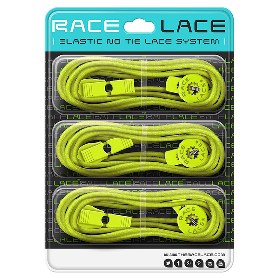 Neon Yellow Race Laces - Triple Pack