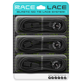 Black Race Laces - Triple Pack