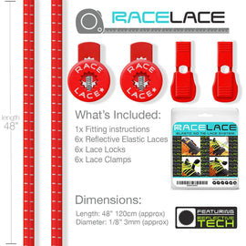Red Race Laces - Triple Pack