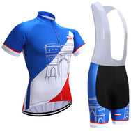 Ensemble court maillot + cuissard de cyclisme France