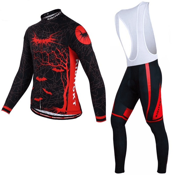 Ensemble maillot + cuissard thermique Hiver Dark Angel (1673436528729)