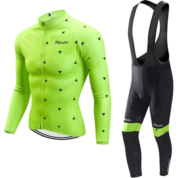 Ensemble maillot + cuissard hiver thermique homme Greenedge (1689075056729)