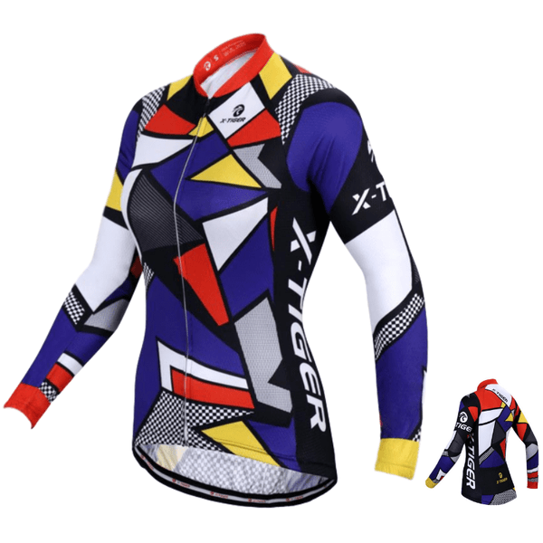Maillot cycliste Hiver thermique femme tiger (1705189867609)