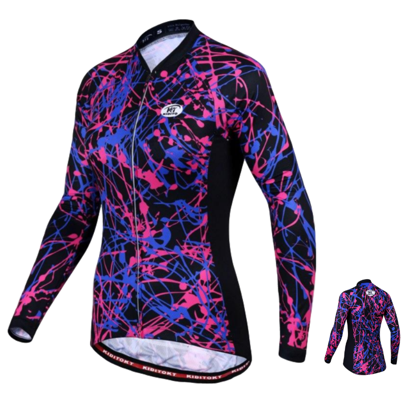 Maillot cycliste Hiver thermique femme Dynamic