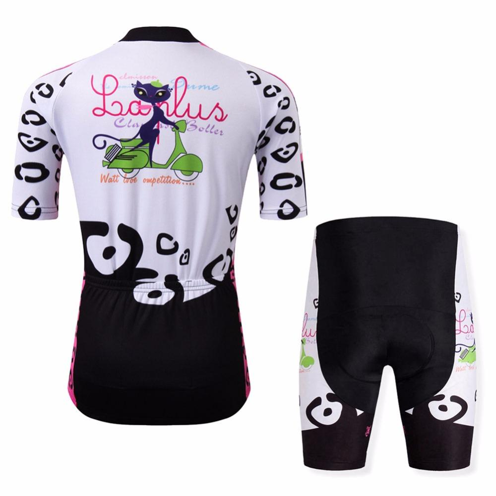 Ensemble court maillot + cuissard de cyclisme femme Cat Bike