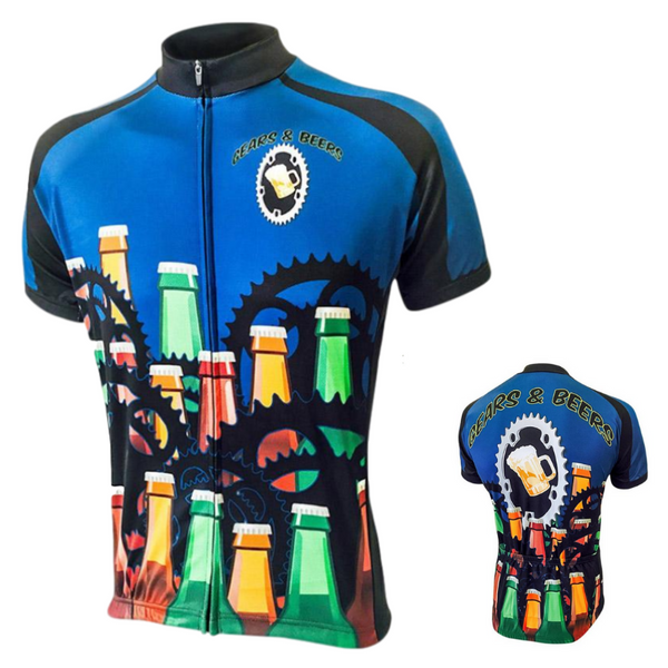 Maillot manches courtes de cyclisme Pedal'beer