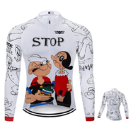 Maillot cycliste Hiver Popeye