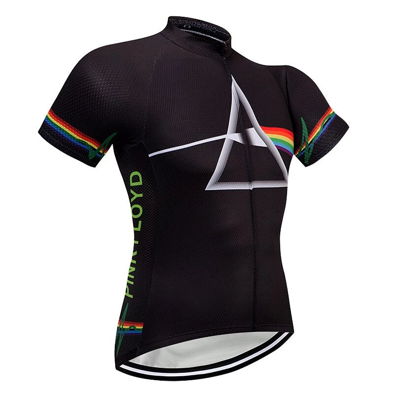 Maillots manches courtes de cyclisme Pink Floyd (519208337449)