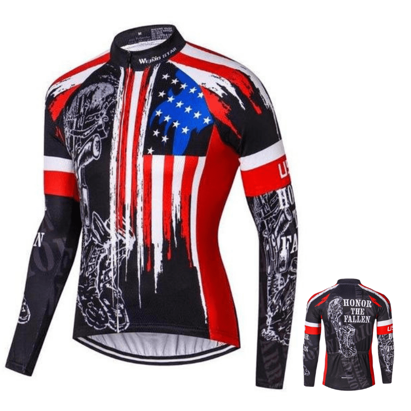 Maillot manches longues de cyclisme American style