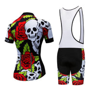 Ensemble court maillot + cuissard de cyclisme Skully