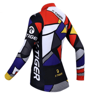 Maillot cycliste Hiver thermique femme tiger