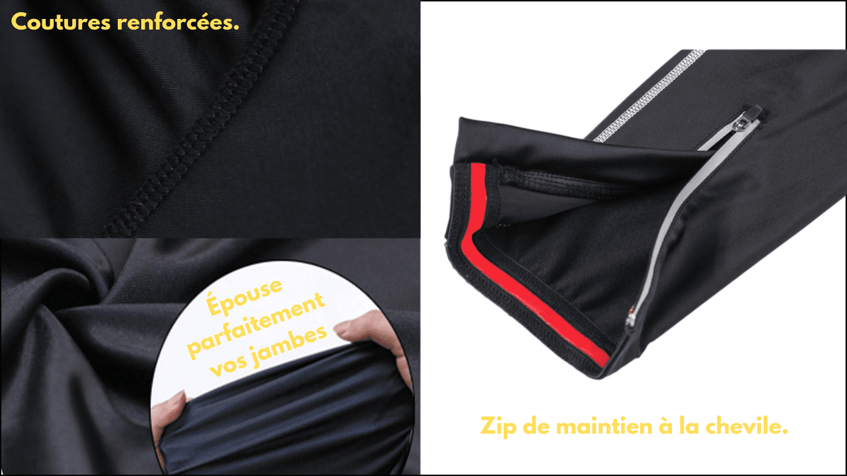 Ensemble long maillot + cuissard de cyclisme Mack black