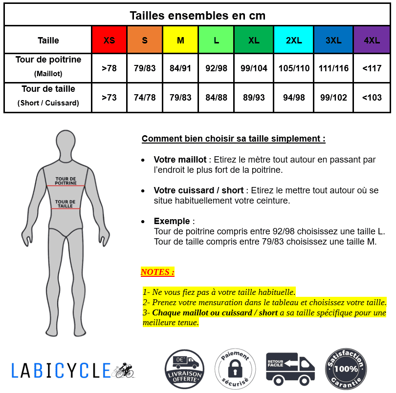 Ensemble court maillot + cuissard de cyclisme Cat Bike