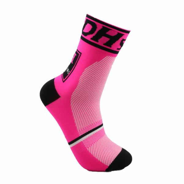 Chaussettes ultra rose respirantes cyclistes
