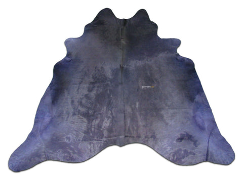 Dyed Purple Cowhide Rugs Size: ~7 X 7 ft Dyed Purple Cowhide Rugs