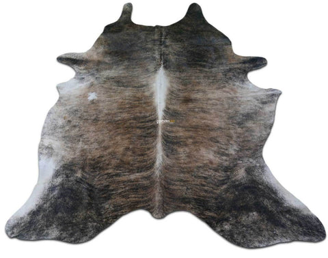 Brindle Cowhide Rug HUGE Size 8 X 6.7 ft Brindle with Dorsal Line Cow Hide E-983