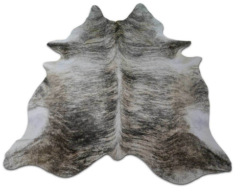 Brindle Cowhide Rug Size: 7.5' X 6' Light Grey Brindle Cowhide M-061