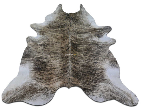 Brindle Cowhide Rug Size: 7.4 X 7 ft Medium Brindle Cowhide Skin Rug M-074