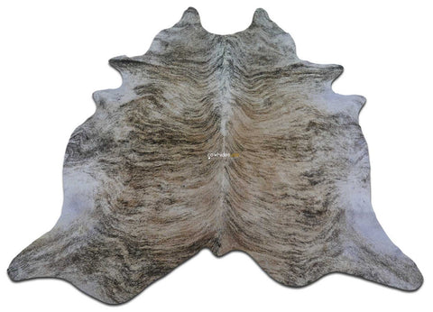 Brindle Cowhide Rug Size: 7.5' X 7' ft Medium Brindle Cow Hide Rug M-075