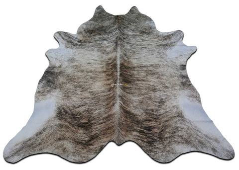 Brindle Cowhide Rug Size: 7.5' X 7' ft Medium Brindle Cow Hide Skin Rug M-077