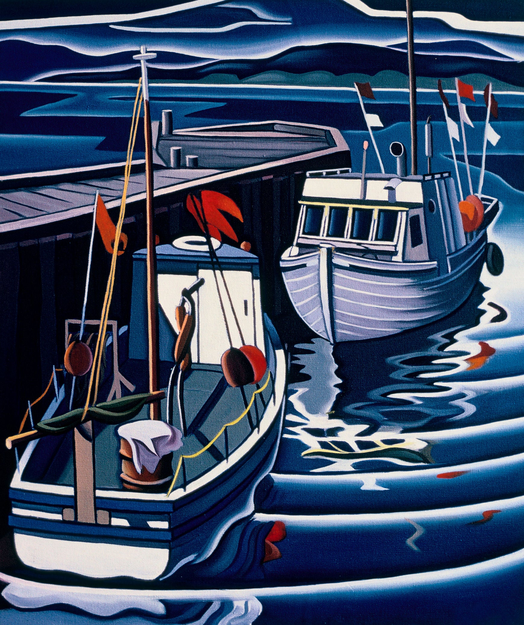 FISHING BOATS, GASPE, QUEBEC