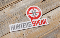 Hunters Speak Decal