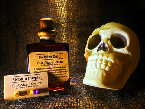 Sebum Gold & Sebum Purple Post Shave Serum ( Men's Aftershave) Skincare for Wet Shaving