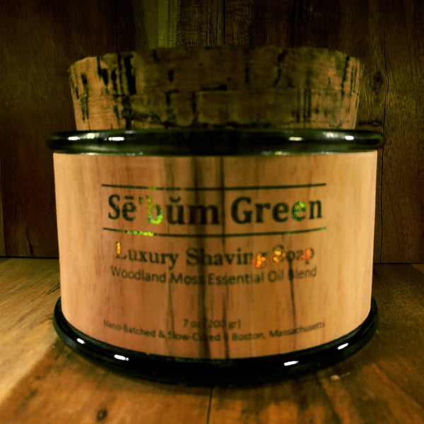 Sē'bŭm Green Luxury Shaving Soap (7oz)