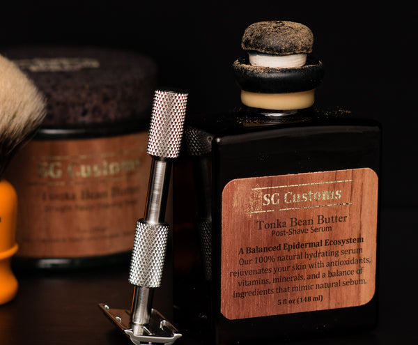 Tonka Bean Butter Straight Razor Shaving Set