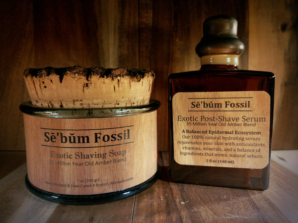 Sē'bŭm Fossil Exotic Shaving Set