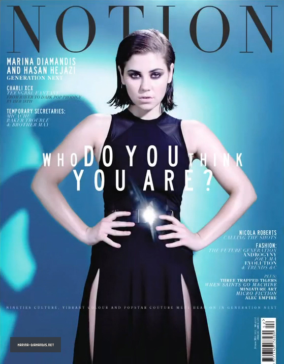 Marina and the dimaonds and Hasan Hejazi for Notion Magazine