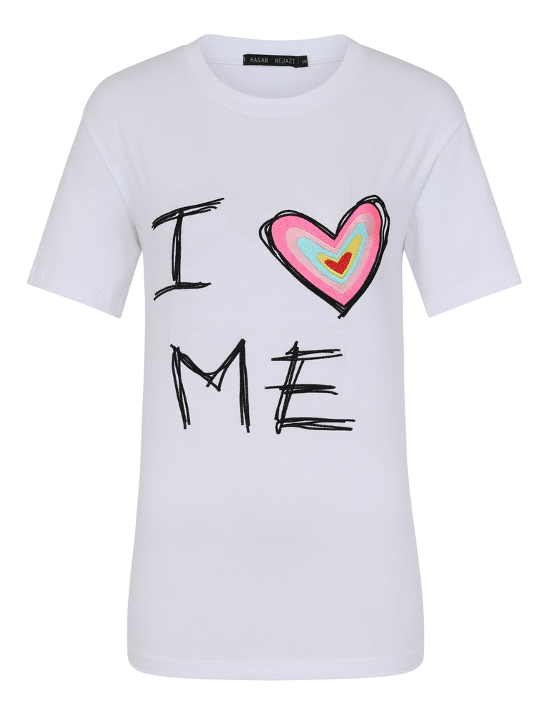"""I LOVE ME"" T-Shirt white"