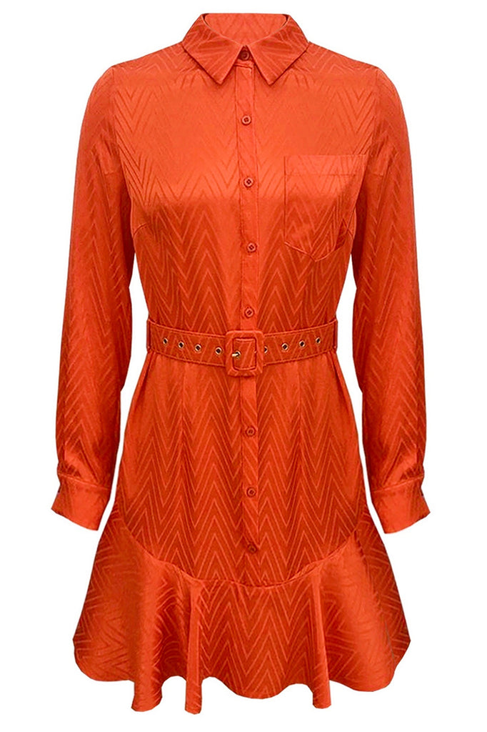 Orange shirt dress