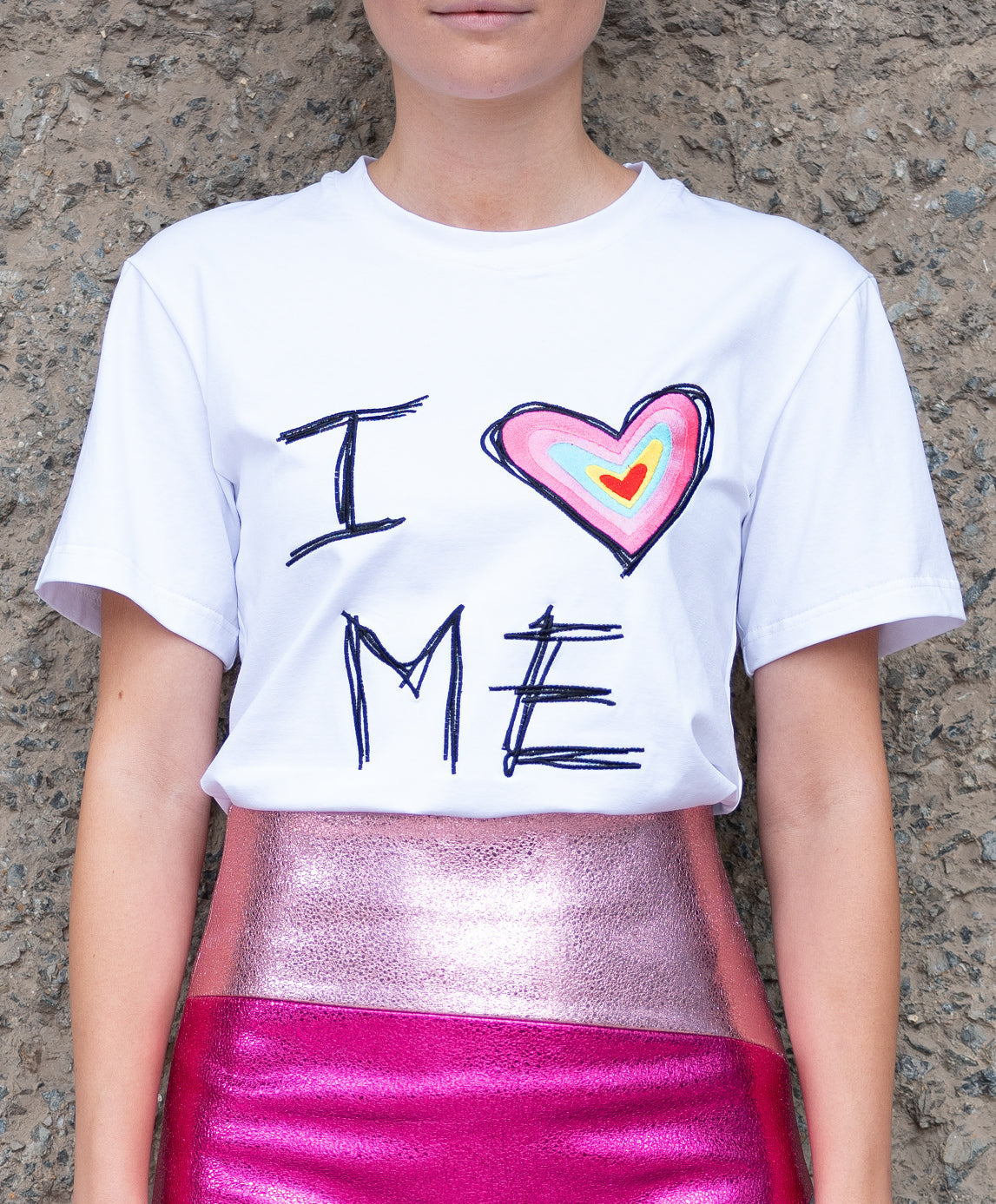 """I LOVE ME"" T-Shirt black"