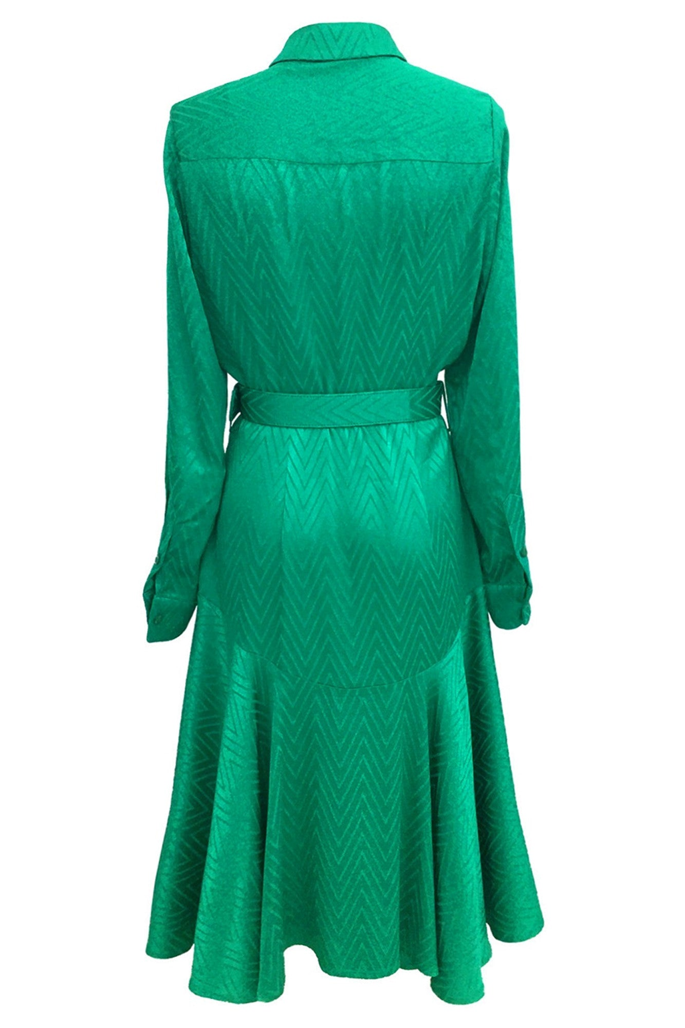 Emerald midi shirt dress
