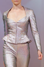 Load image into Gallery viewer, Silver Glitter Jacket