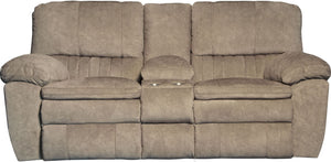 240 Reyes Portabella Power Reclining Loveseat W/Console - Cox Furniture and Flooring