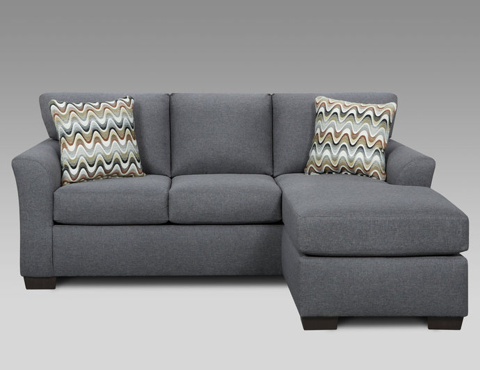 3903 Cosmpolitan Grey Sofa with Chaise - Cox Furniture and Flooring