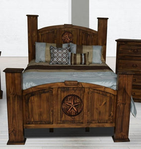 Antique Mansion Queen Bed with Star - Cox Furniture and Flooring
