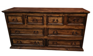Antique Mansion Solid Wood 8 Drawer Dresser - Cox Furniture and Flooring