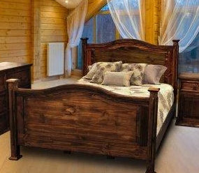 Antique Petite Bed Full Size by Rustic Creations - Cox Furniture and Flooring