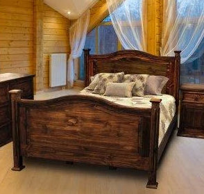 Antique Petite Bed King by Rustic Creations - Cox Furniture and Flooring