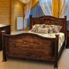 Antique Petite Bed Twin with Star by Rustic Creations - Cox Furniture and Flooring