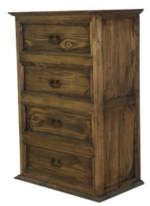 Antique Petite Solid Wood Chest by Rustic Creations - Cox Furniture and Flooring