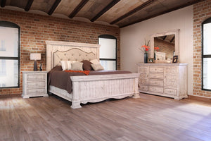 Bella Vintage White King Bedroom Set by International Furniture - Cox Furniture and Flooring
