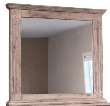 Bella Vintage White Mirror by International Furniture - Cox Furniture and Flooring